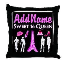 PARIS SWEET 16 Throw Pillow