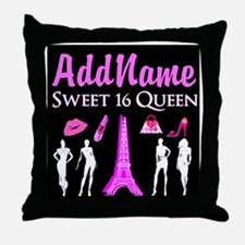 PARIS SWEET 16 Throw Pillow