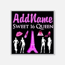 "PARIS SWEET 16 Square Sticker 3"" x 3"""