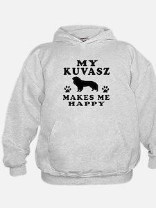 My Kuvasz makes me happy Hoodie