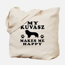 My Kuvasz makes me happy Tote Bag