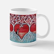 Boston Terrier love heart trees Mugs