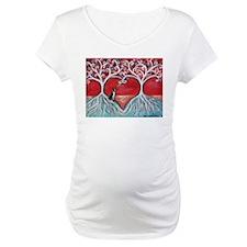 Boston Terrier love heart trees Shirt