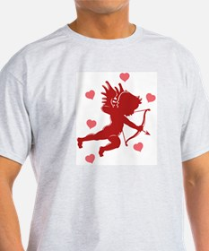 Valentine's Day Cupid Ash Grey T-Shirt