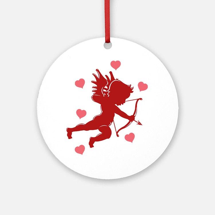 Valentine's Day Cupid Ornament (Round)
