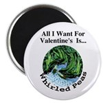"""Valentine's Whirled Peas 2.25"""" Magnet (100 pack)"""