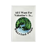 Valentine's Whirled Peas Rectangle Magnet (100 pac