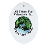 Valentine's Whirled Peas Oval Ornament
