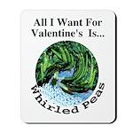 Valentine's Whirled Peas Mousepad