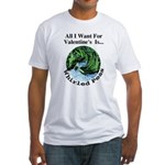 Valentine's Whirled Peas Fitted T-Shirt