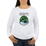 Valentine's Whirled Peas Women's Long Sleeve T-Shi