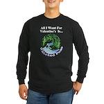 Valentine's Whirled Peas Long Sleeve Dark T-Shirt