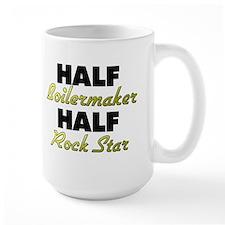 Half Boilermaker Half Rock Star Mugs