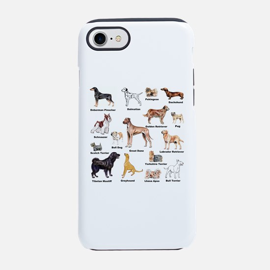 Dog Types iPhone 7 Tough Case