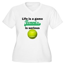 Tennis Is Serious Plus Size T-Shirt