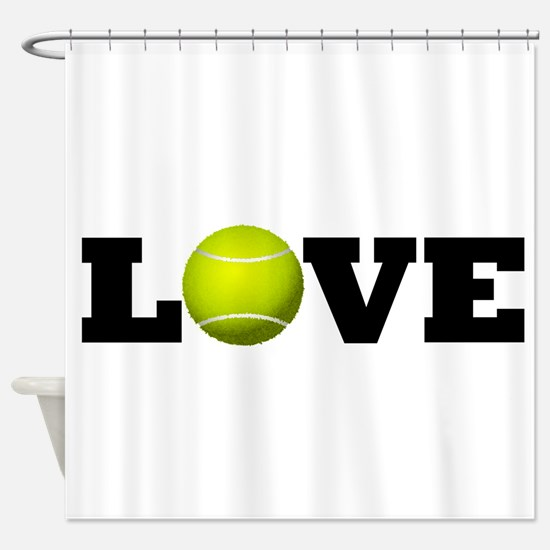 Tennis Love Shower Curtain