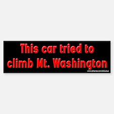 Car Tried to Climb Mt. Washington Bumper Bumper Bumper Sticker