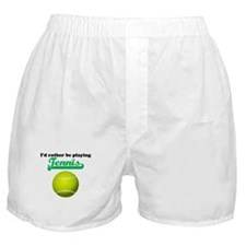 Id Rather Be Playing Tennis Boxer Shorts