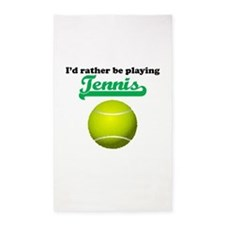 Id Rather Be Playing Tennis 3'x5' Area Rug