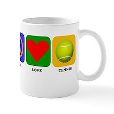 Peace Love Tennis Mugs