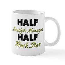 Half Benefits Manager Half Rock Star Mugs