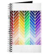Rainbow Ombre Chevron Journal