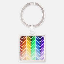 Rainbow Ombre Chevron Keychains