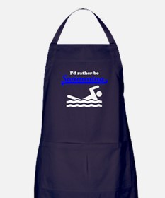 Id Rather Be Swimming Apron (dark)