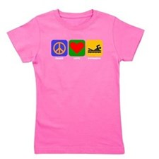 Peace Love Swimming Girl's Tee