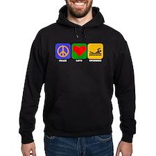 Peace Love Swimming Hoody