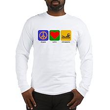 Peace Love Swimming Long Sleeve T-Shirt
