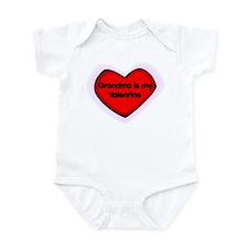 Grandma is My Valentine Infant Bodysuit