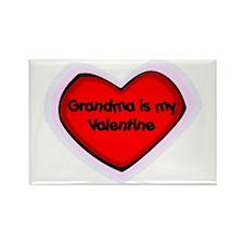 Grandma is My Valentine Rectangle Magnet