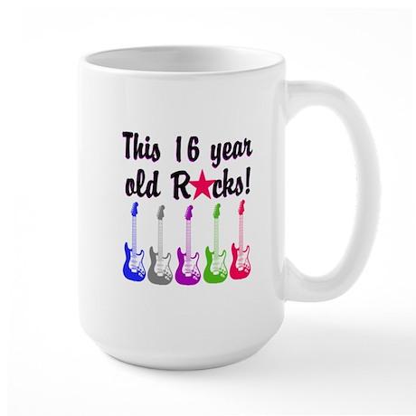ROCKIN 16 YR OLD Large Mug