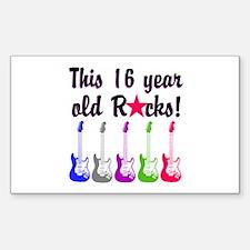 ROCKIN 16 YR OLD Decal