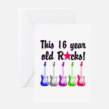 ROCKIN 16 YR OLD Greeting Card