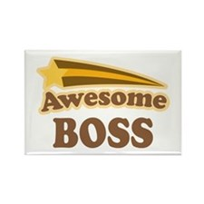 Awesome Boss Rectangle Magnet