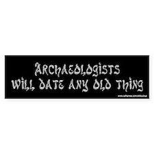 Archaeologists Bumper Car Sticker