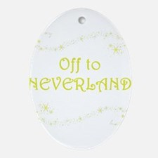 Off to Neverland Ornament (Oval)