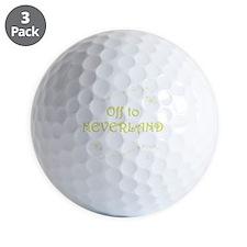 Off to Neverland Golf Ball