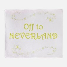 Off to Neverland Throw Blanket