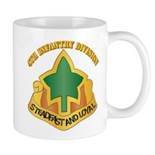 DUI - 4th Infantry Division with tetx Mug
