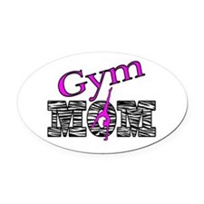 Gym Mom Oval Car Magnet