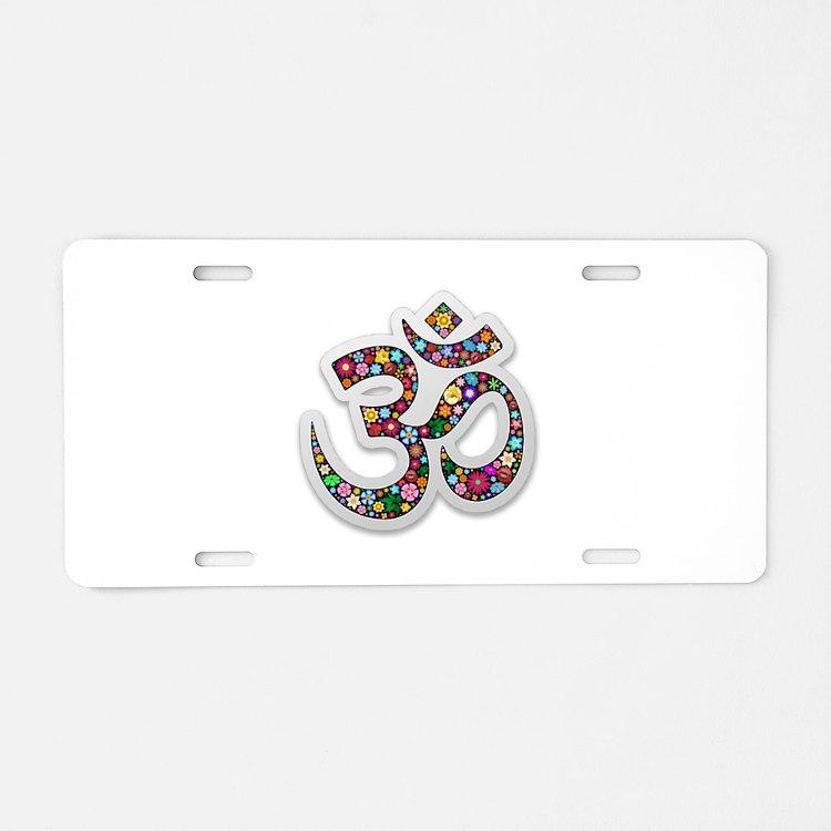 Om Aum Namaste Yoga Symbol Aluminum License Plate