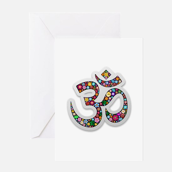 Om Aum Namaste Yoga Symbol Greeting Cards
