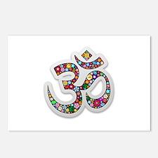 Om Aum Namaste Yoga Symbol Postcards (Package of 8