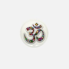 Om Aum Namaste Yoga Symbol Mini Button (100 pack)