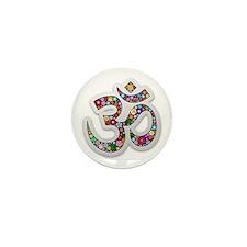 Om Aum Namaste Yoga Symbol Mini Button (10 pack)