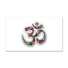 Om Aum Namaste Yoga Symbol Rectangle Car Magnet
