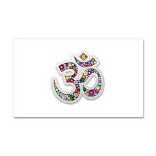 Om Aum Namaste Yoga Symbol Car Magnet 20 x 12